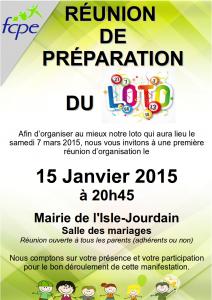 réunion de préparation LOTO 2015